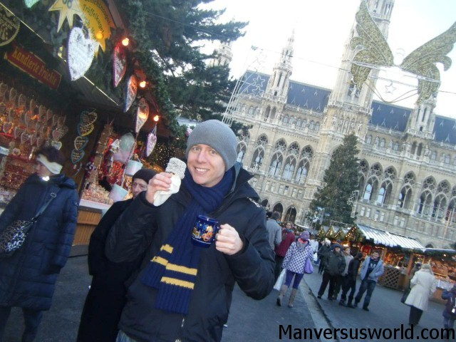 At a Christmas market in Vienna, Austria