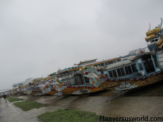 Boats on the Perfume River in Hue