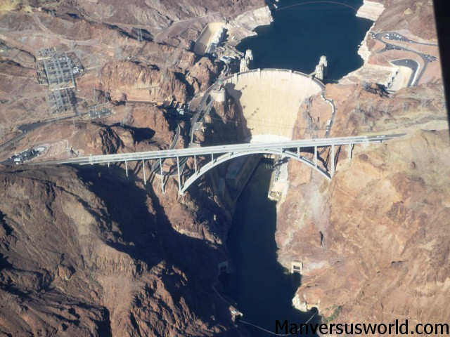 The Hoover Dam from above