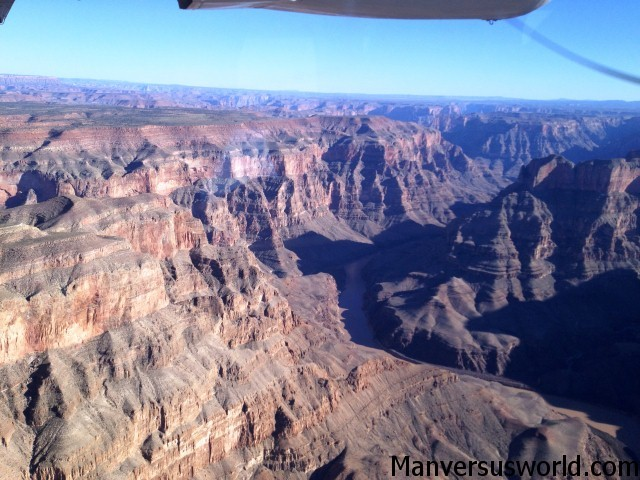 An aerial photograph of the Grand Canyon