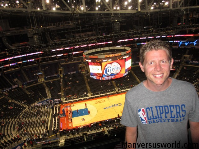 Happy: me at a LA Clippers game