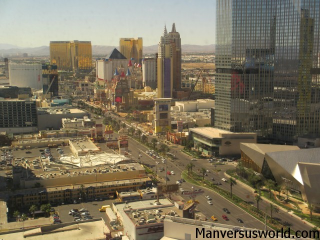 View over the Las Vegas Strip