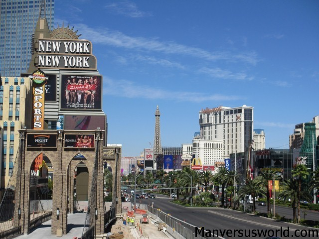 The famous Las Vegas Strip - during the day