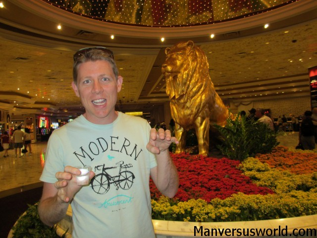 The MGM Grand lion in Vegas (and me)