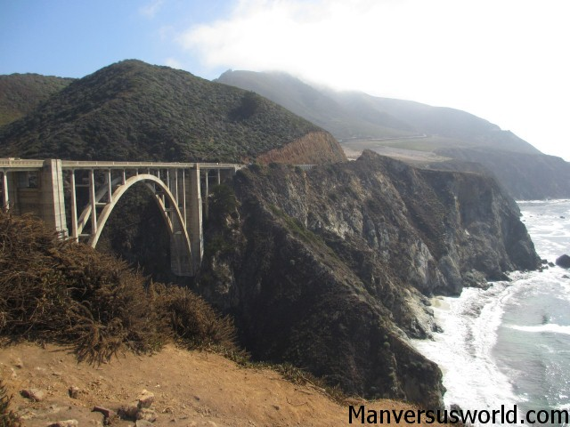 The iconic Bixby Creek Bridge, Big Sur, CA
