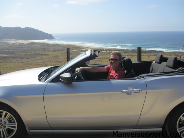 Me and Mustang Sally at Big Sur, CA