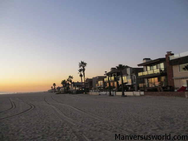 Homes on Newport Beach in California