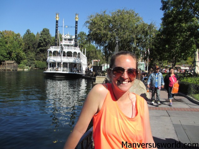 The paddle steamer at Frontierland in Disneyland