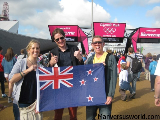 Me and some mates at the London 2012 Olympics