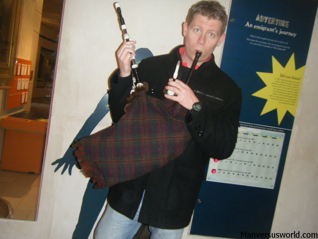 Me and bagpipes in Edinburgh, Scotland