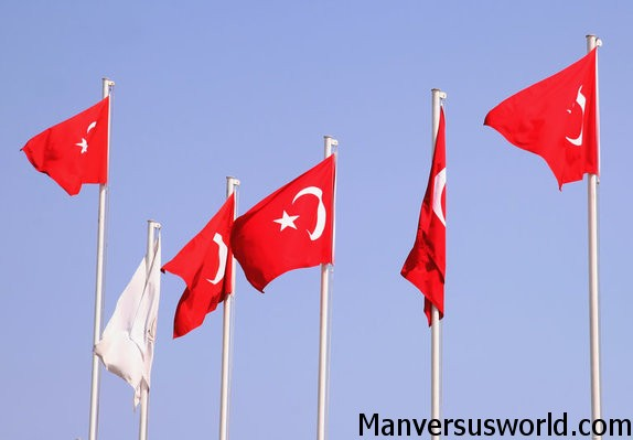 The flag of Turkey