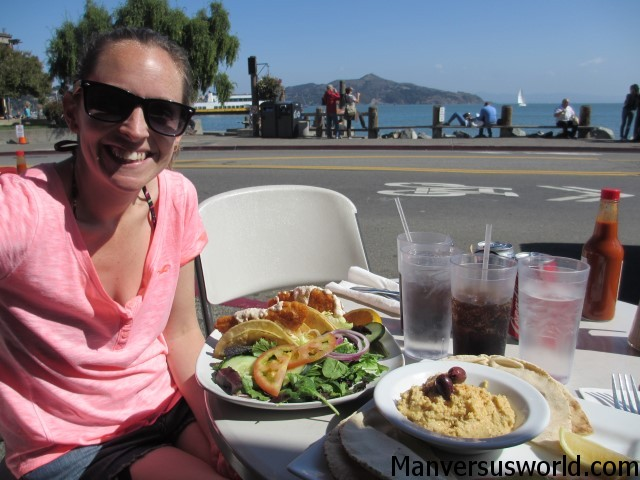 Cycling from San Francisco to Sausalito
