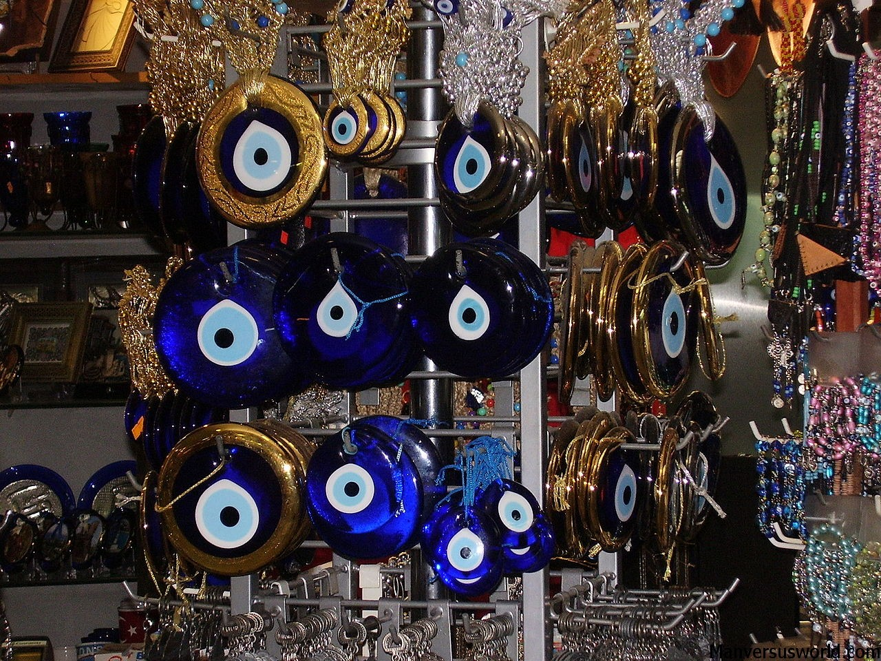 Nazar in a shop in Turkey