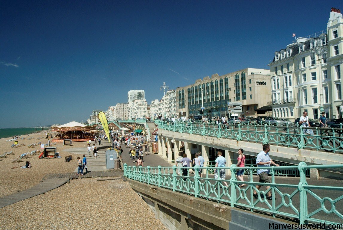 A rare sunny day in Brighton, UK