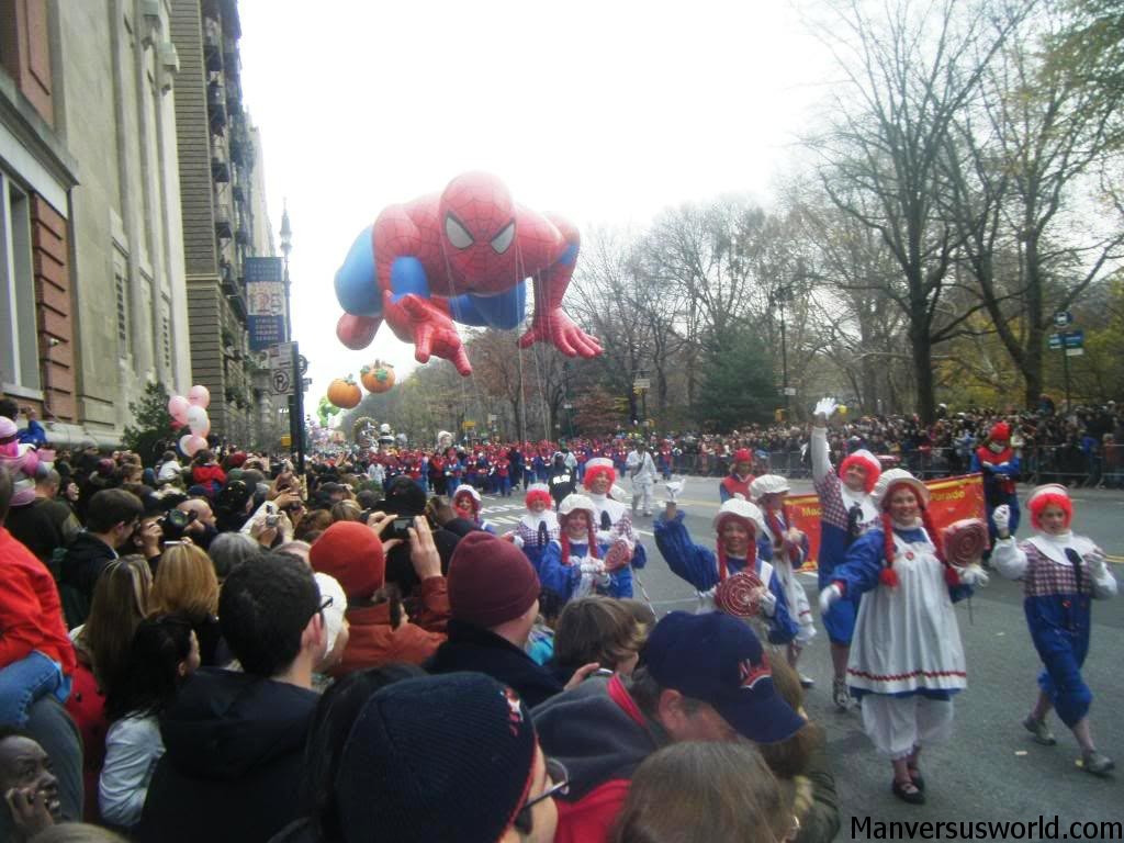 Spider-Man at the Macy's Thanksgiving Day Parade in New York