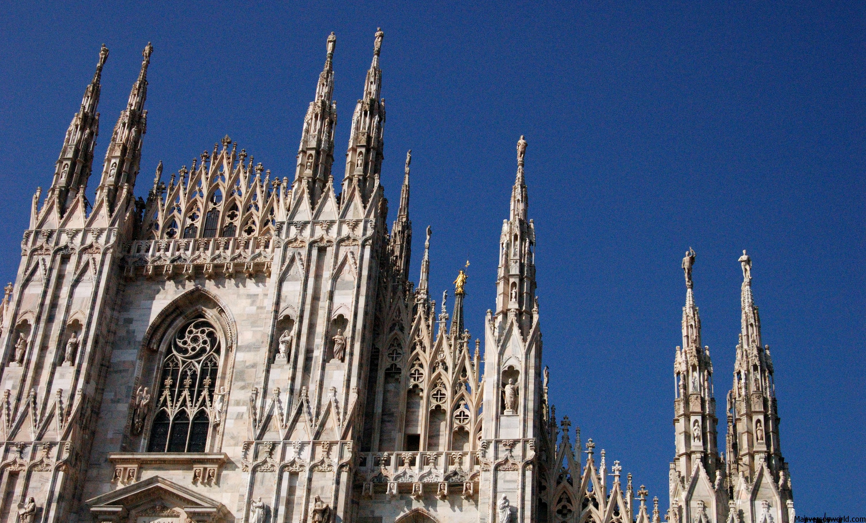Milan's famous Duomo stands proud