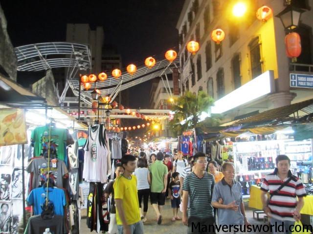 The vibrant China Town at night, Kuala Lumpur