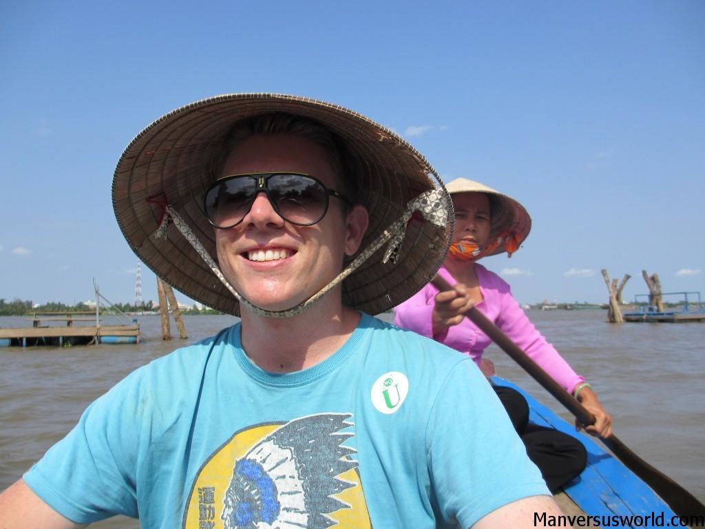 Me on the Mekong Delta in Vietnam