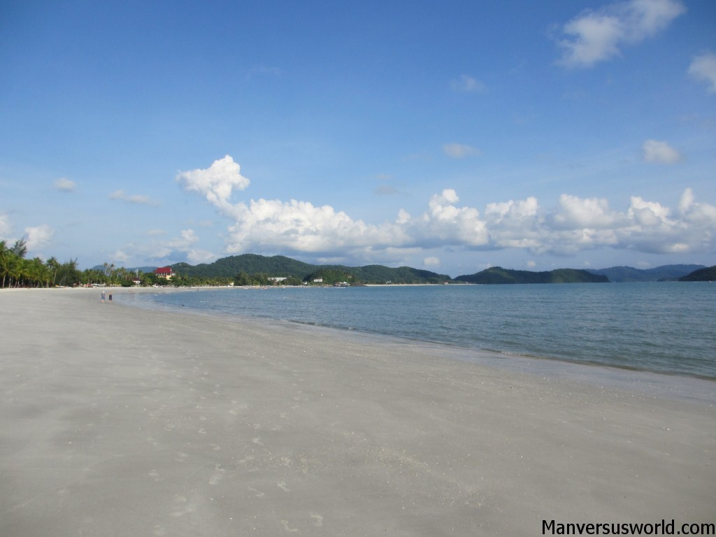 Beautiful Langkawi beach in Malaysia