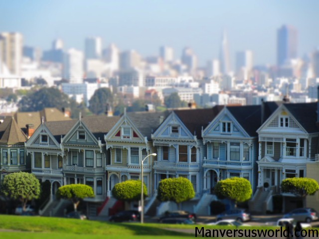 "San Francisco's famous ""seven sisters"""