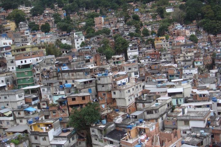 The Rocinha favela in Rio de Janeiro