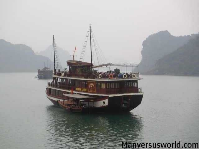 A boat on Ha Long Bay in Vietnam