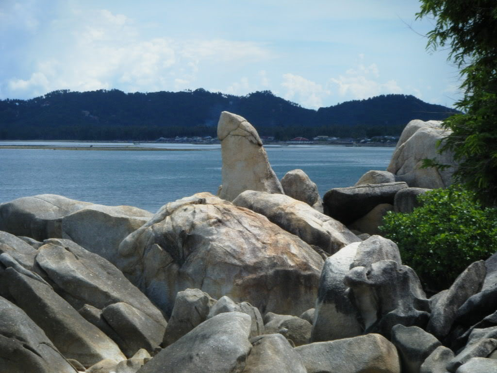 The infamous grandfather rock in Koh Samui, Thailand