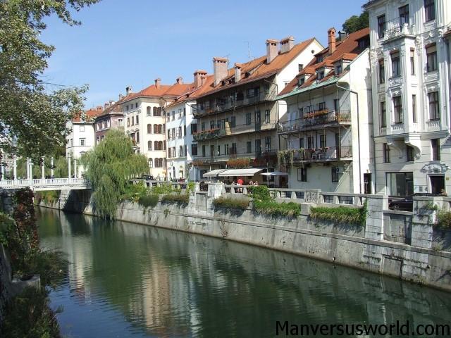 Ljubljana River in Slovenia