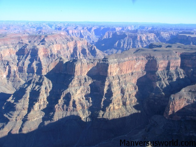 The Grand Canyon from a plane