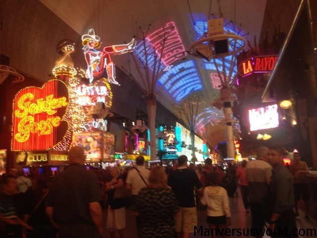 The amazing Fremont Street Experience in Vegas