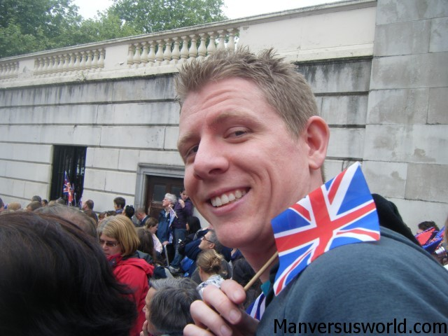 Me at the Royal Wedding in London, 2011