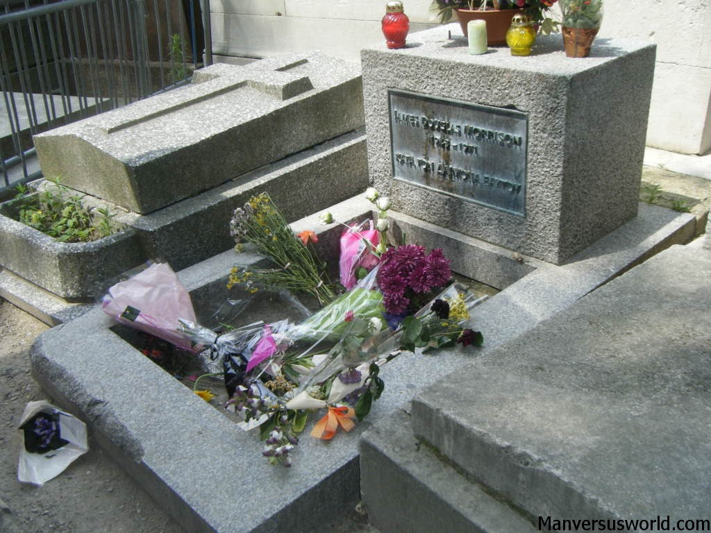 Jim Morrison grave in Paris